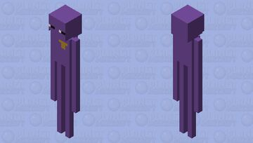 The enderman behind the slaughter Minecraft Mob Skin