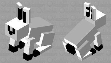 Black - White Rabbit Minecraft Mob Skin