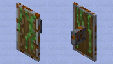 Overgrown Shield (with rust on it) Minecraft Mob Skin