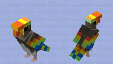 Hornbill bird Minecraft Mob Skin