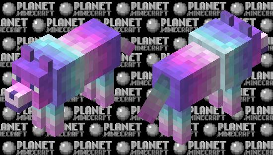 Retro Wolf Minecraft Skin