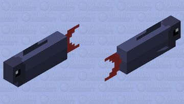 Red-Tailed Black Shark (More Fish) Minecraft Mob Skin