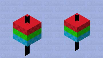 Upside Down Spinny Top Minecraft Mob Skin
