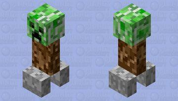 Ground level creeper Minecraft Mob Skin