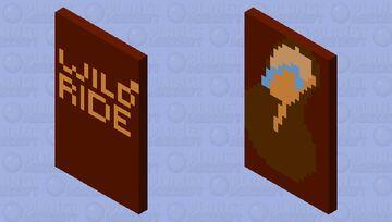 Wild Ride Rip it Everclear Fireball Coyote logo Minecraft Mob Skin