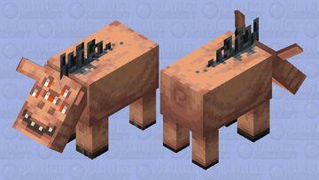 Creepy hoglin Minecraft Mob Skin