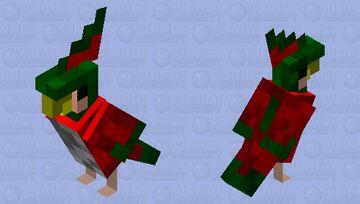 Golden Beak Emperor Macaw Minecraft Mob Skin