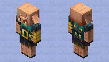 warped piglin Brute Minecraft Mob Skin