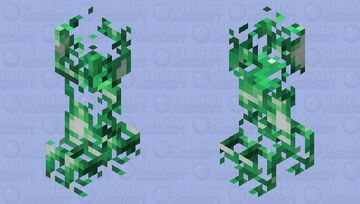 Green Creeper Charged Minecraft Mob Skin