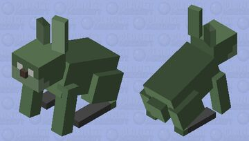 Smol Simple Rotten Rabbit (tiny and simple Springtrap) Minecraft Mob Skin