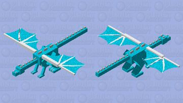 Snowstorm (Wings of fire Dragonet) Minecraft Mob Skin