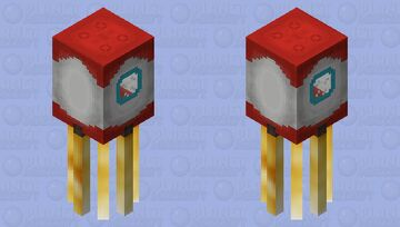 Rocket squid! Minecraft Mob Skin