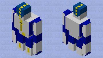 A Very Pastel Zipper Man Minecraft Mob Skin