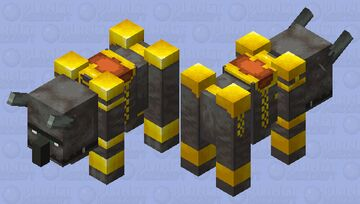 Golden ravager Minecraft Mob Skin