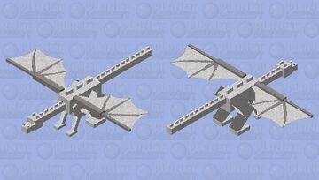 Silvermoon (Wings of fire dragonet) Minecraft Mob Skin