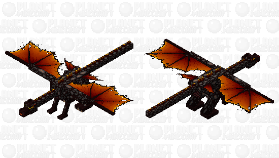 Fire and ashes dragon Minecraft Skin