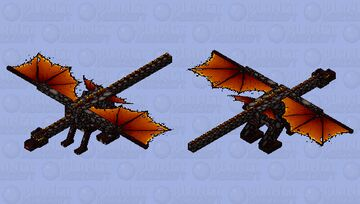 Fire and ashes dragon Minecraft Mob Skin