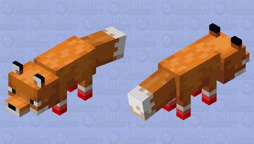 The fox with shoes Minecraft Mob Skin