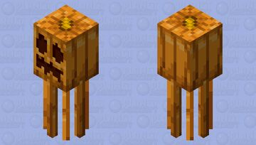 Pumpkin Squid Minecraft Mob Skin