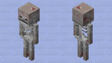 Mushroom Skeleton Minecraft Mob Skin
