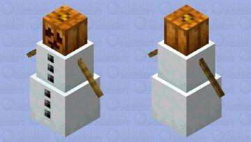 Tiny Pumpkin head Minecraft Mob Skin