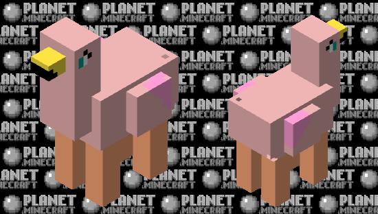 Llama-Flamingo Minecraft Skin