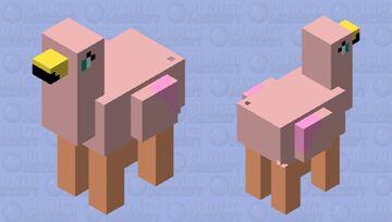 Llama-Flamingo Minecraft Mob Skin