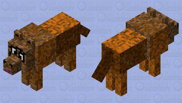 Browb wolf Minecraft Mob Skin
