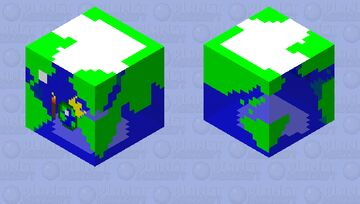 PMC party globe ( PMC 10th anniversary) with mini globe and crown Minecraft Mob Skin