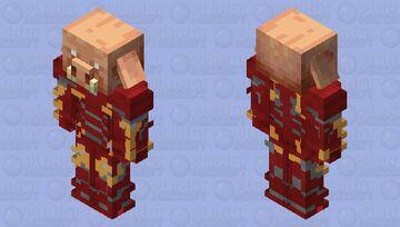 Piglin in Iron Man suit Minecraft Mob Skin