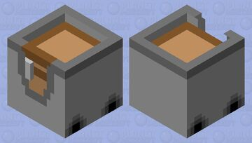 Chest On A Minecart Minecraft Mob Skin