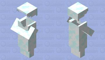 pmcrp snow villager outfit Minecraft Mob Skin