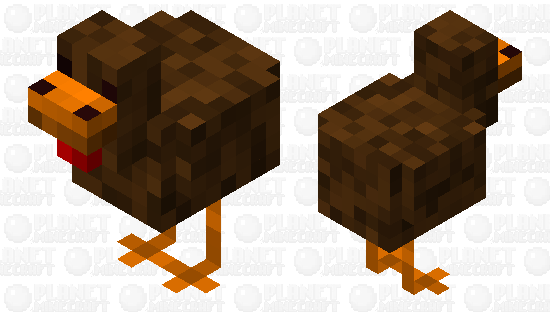Muddy Chicken Minecraft Skin