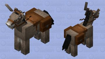 Donkey With Saddle Bags Minecraft Mob Skin