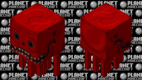 Creepy Red Ghast Minecraft Skin