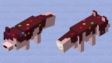 chocolate fox (but this time i did not make it HD skin) Minecraft Mob Skin