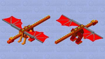 Phoenix Dragon Minecraft Mob Skin