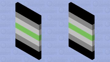 Agender Flag Cape Minecraft Mob Skin