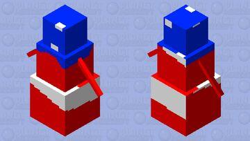 the american snowman Minecraft Mob Skin
