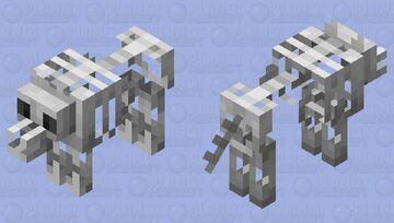 skeleton wolf  ( minecraft earth ) Minecraft Mob Skin