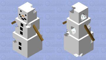melting simple snowman Minecraft Mob Skin
