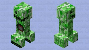 Prototype #02-R023a44 (Desconfigured Creeper). Creeper Rage Dark age Minecraft Mob Skin