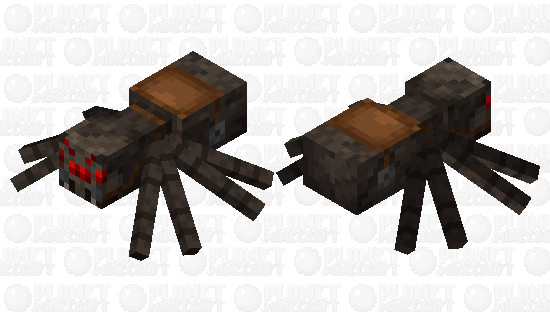 Saddled spider Minecraft Skin