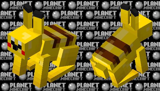 Pikachu Rabbit (Pokemobs: Skin competition) Minecraft Skin