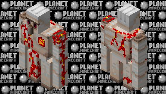 Redstone iron golem Minecraft Skin