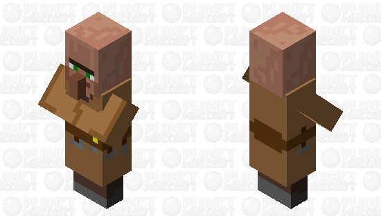 Carpenter Villager (Plains) Minecraft Skin