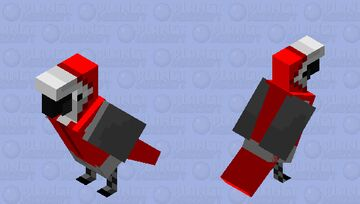 A little African Grey in a X-mas hoodie (Congo african grey) Minecraft Mob Skin