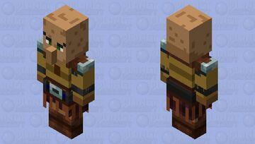 Guardian villager axe Minecraft Mob Skin