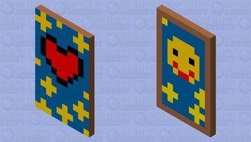 Heart, Face and stars Cape Minecraft Mob Skin