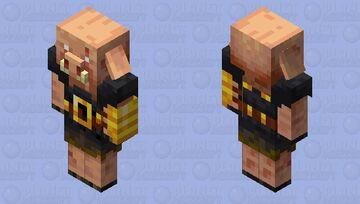 A slightly more 3D Piglin Brute Minecraft Mob Skin